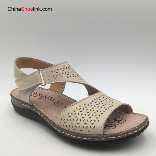 Wholesale Fashion Summer Casual Leather Shoes for Women