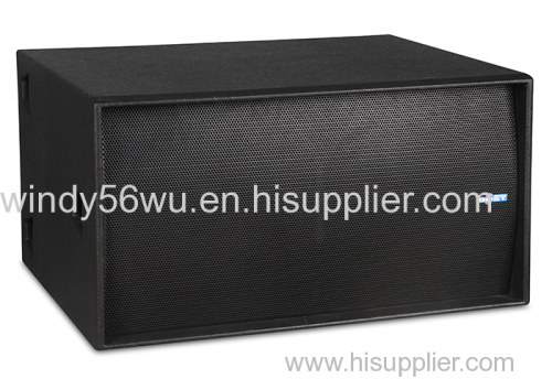 double 18 inch professional pa subwoofer loudspeaker system