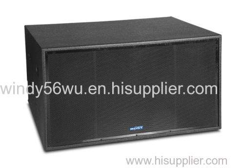 double 18 inch professional PA subwoofer speaker system