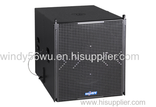 18 inch professional active line array loudspeaker system