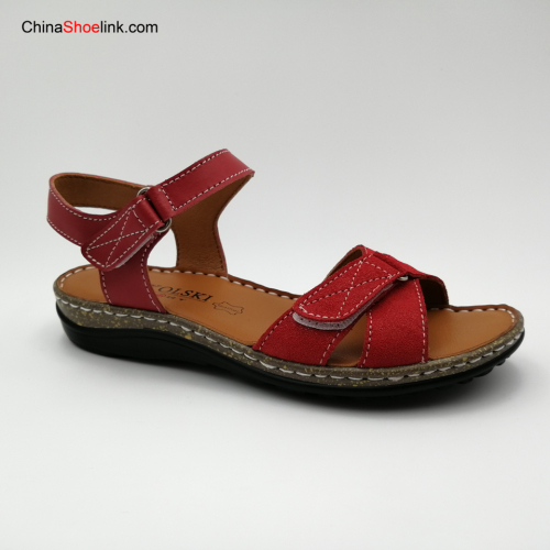 Wholesale Fashion Summer Leather Sports Sandals for Women