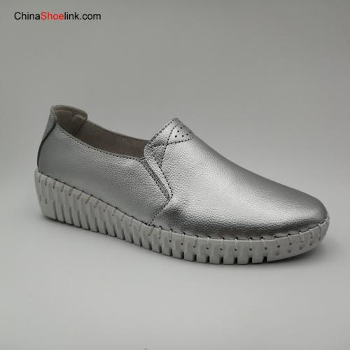 Women's Loafers Slip On Genuine Leather Woman Female Leisure Shoe