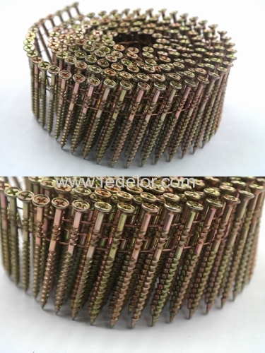 Wire screw coil nail