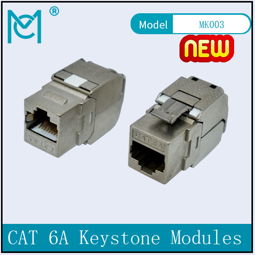 CAT 6A Keystone Jack Shielded Re-embedded 500 MHz with