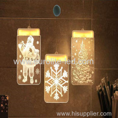 Led Acrylic 3D USB Romantic Pendant Decoration Chirsmas Icicle Light