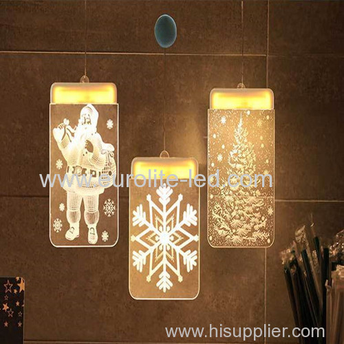 Led Acrylic 3D USB Romantic Pendant Decoration Chirsmas Icicle Light