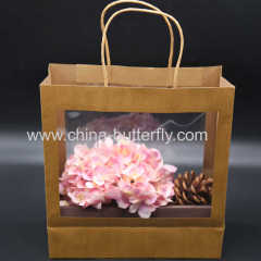 Kraft Paper Bag With Clear Windlow
