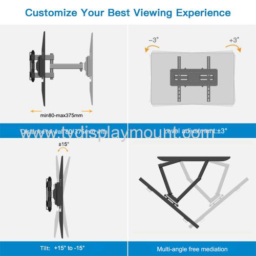 400*400mm Metal lcd tv wall mount swivel bracket