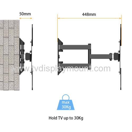 NBJOHSON Full Motion Articulating TV Wall Mount Bracket for 17-56 Inch LED LCD Flat Screen TV