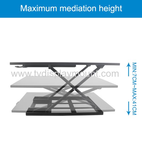 Curved Horizontal Rail Dual LCD Monitors Array Desk Mount