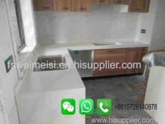 Foshan Weimeisi modern white quartz kitchen island countertops for sale