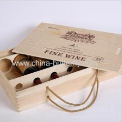 Wood Wine Box 6 Bottles