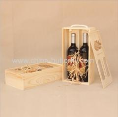 Wood Wine Box 2 Bottles