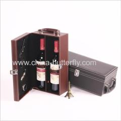 Leather Wine Box Set