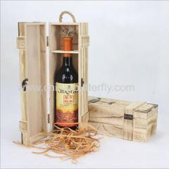 Wood Wine Box Single Bottle