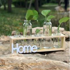 Wooden Shelf For Hydroponics Glassware