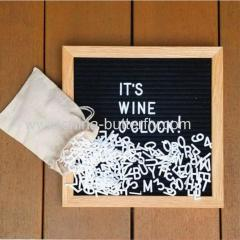Alphabet Wooden Frame Black Board