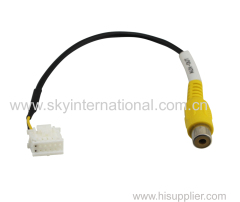 AV VIDEO OUT CABLE PLUG 12pin FOR MITSUBISHI TRITON PAJERO 2011-14 STANDARD DVD