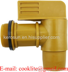 "2"" Polyethylene Plastic Barrel Tap / Lever Type Drum Faucet With EPDM Gaskets"