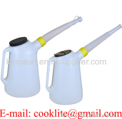 Polyethylene (HDPE) Fluid Fuel Oil Antifreeze Measuring Jug Plastic Pouring Pitcher with Cap & Flexi Spout