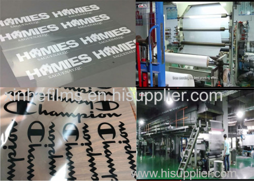 Matte Cold Peel Heat Transfer Film for Screen Printing with Water-Based Inks for Sportswear Brands Heat Transfer Labels