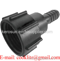 """PP IBC Tank Adapter/Coupling DIN 61 Adaptor with 1"""" Hose Barb"""