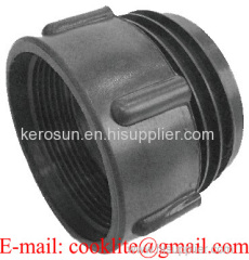 """PP IBC Tank Adapter/Fitting 63mm Male to 2"""" BSP Female Plastic Drum Coupling"""