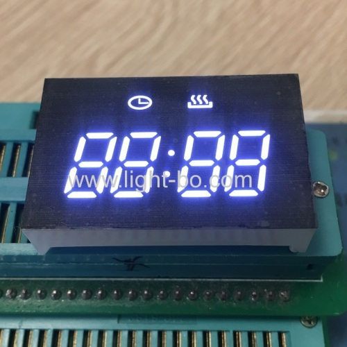 Customized low cost Ultra bright white 4 digit 7 segment led clock dispaly for Mini Oven Timer