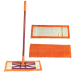 Microfiber flat mop with easy closure