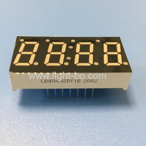 Ultra bright yellow 4 digit 7 segment led display for temperature humidity indicator