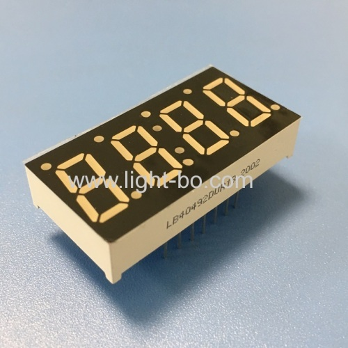 Customized ultra red 4 Digit 7 Segment LED Display common cathode for temperature controller