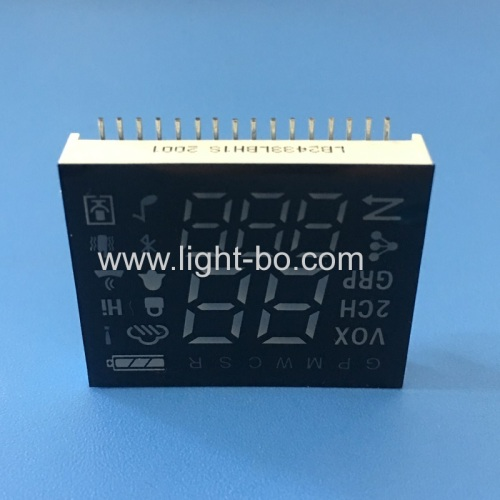 Ultra blue custom design 7 Segment led display module common cathode for transmitter control panel