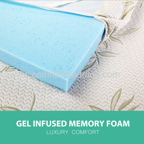 2 inch3 inch gel infused memory foam topper