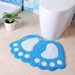 Foot Print Bath Mats Non-slip Bathroom Carpet Mat Toilet Tapete Para Banheiro Bathroom Rug Bath Pad Carpets