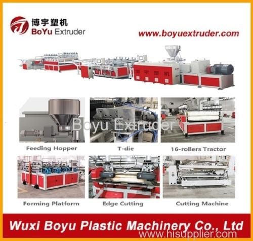 WPC foam sheet extruder machine
