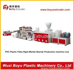 Artificial marble sheet production line