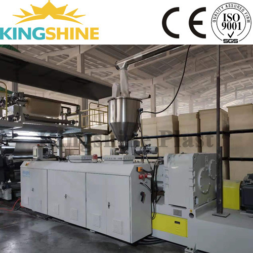Rigid Core PVC Sheet Flooring SPC Vinyl Tile LVT SPC Flooring Extrusion Machine
