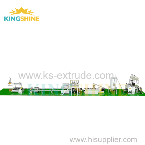 Luxury vinyl tile flooring extrusion machine line