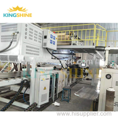 PVC flooring extrusion machine line