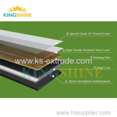 SPC plastic composite tile production line