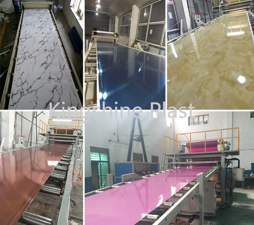 PVC Imitation Marble Wall Panel Extrusion Line