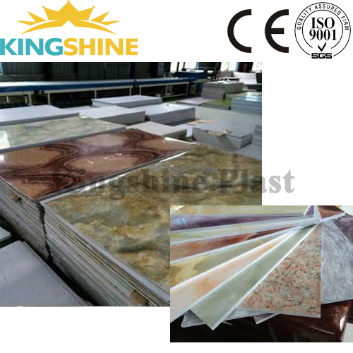 High Capacity PVC laminating sheet/artificial marble board production line