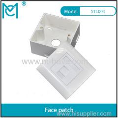 MC CAT 6A Class EA Network Outlet French wall Single-port panel 80*80