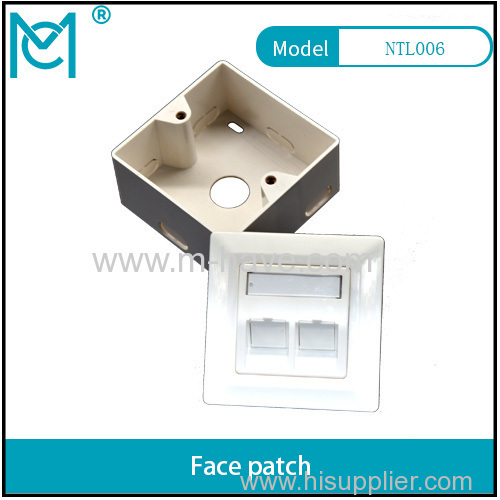 MC CAT 6A Class EA Network Outlet Germany wall plate 80*80