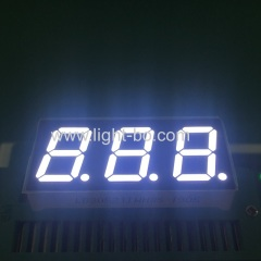white display; 3 digit white display; 0.52