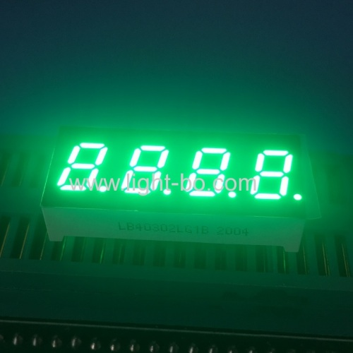 Pure Green 0.3inch 4 Digit 7 Segment LED Dispaly common cathode for instrument panel