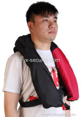 Inflatable single or double chamber life jacket