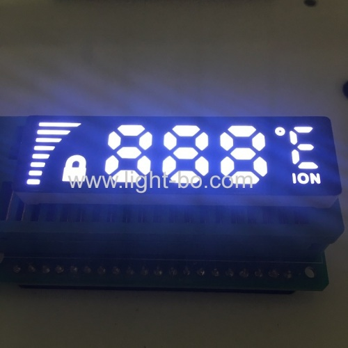Ultra thin customized ultra white 7 Segment LED Dispaly Common Anode for temperature controller