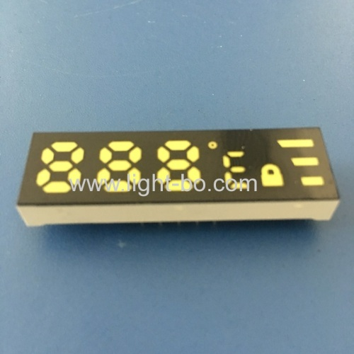 Ultra white customized 7 Segment LED Dispaly Common Anode for temperature indicator