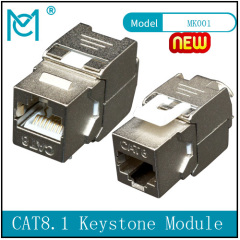 CAT 8.1 Keystone Module Shielded Tool-free Connection
